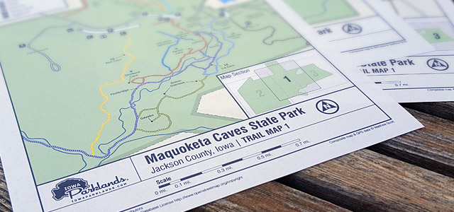 Maquoketa Caves State Park Trail Map