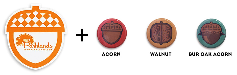FREE Acorn Sticker + 3 FREE Nut Buttons with Any Purchase!
