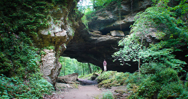 Maquoketa Caves State Park Natural Bridge