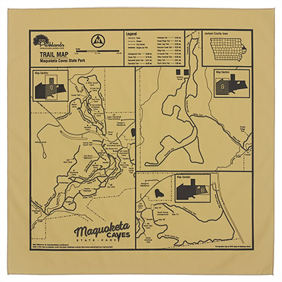 Iowa Trail Map Bandannas