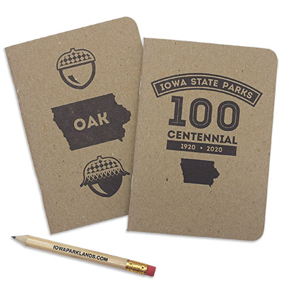 Iowa State Park Centennial Oak Pocket Notebook