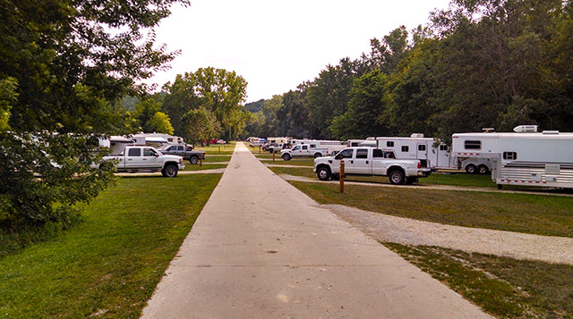 Full hookup campgrounds in iowa
