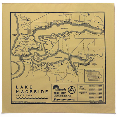 Lake Macbride State Park Trail Map Bandanna