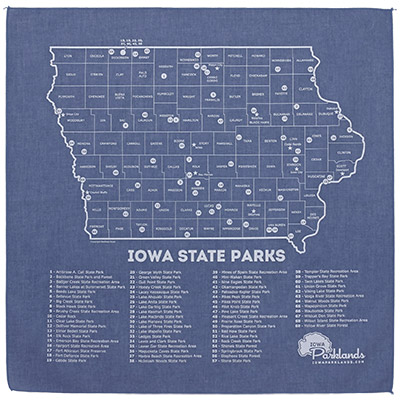 Iowa State Parks Bandanna - Chambray