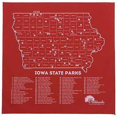 Iowa State Parks Map Iowa Parklands Iowa State Parks Map