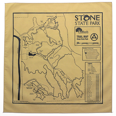 Stone State Park Trail Map Bandanna