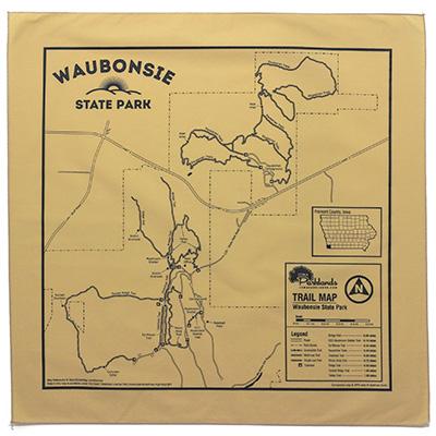 Waubonsie State Park Trail Map Bandanna