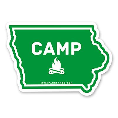 Iowa State Camp Sticker