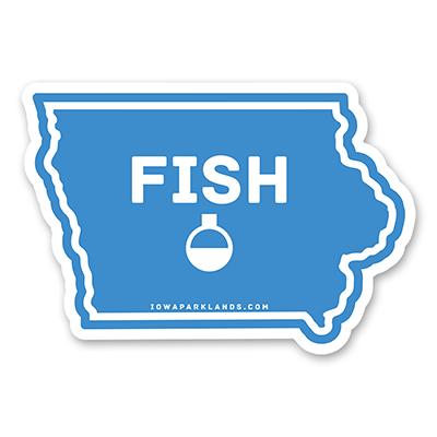 Iowa State Fish Sticker