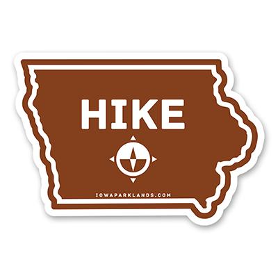 Iowa State Hike Sticker