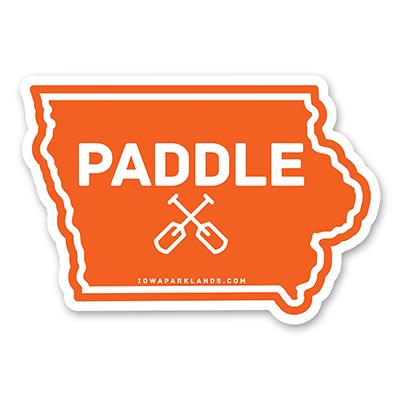Iowa State Paddle Sticker