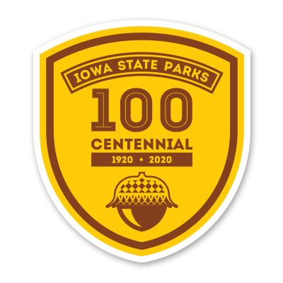 100th Anniversary Iowa State Park Sticker